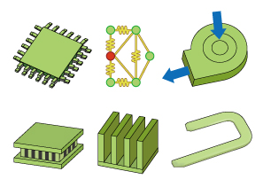 Electronic part model